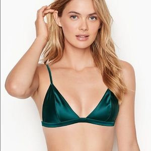 satin triangle bralette